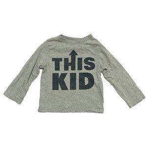 "Grey ""This Kid"" Long Sleeve Shirt"